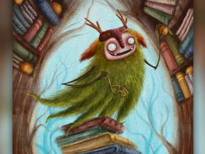 Book Keeper magic design character design characters character children illustrations illustration knowledge weirdo trees botanical nature forest librarian library book keeper keeper books book
