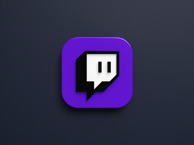 App Icon - Twitch twitch mobile app icon icon app b3d blender 3d
