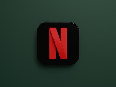 App Icon - Netflix netflix app icon icon mobile app b3d blender 3d