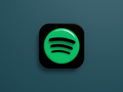App Icon - Spotify spotify mobile icon app icon app blender 3d
