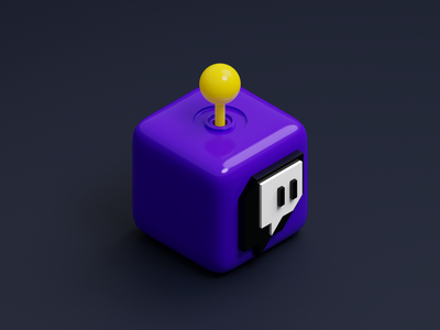 Cube App Icon - Twitch cube twitch icon mobile app icon app isometric illustration blender 3d