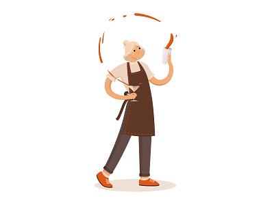 bar_girl vector art vector illustration coctail barman design cartoon character cartoon adobe illustrator