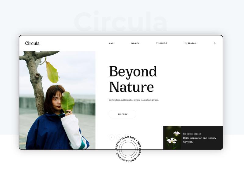 Circula - Fashion Store | Web UI Design concept creative branding fashion website minimal clean fashion store fashion ui ecommerce clothing