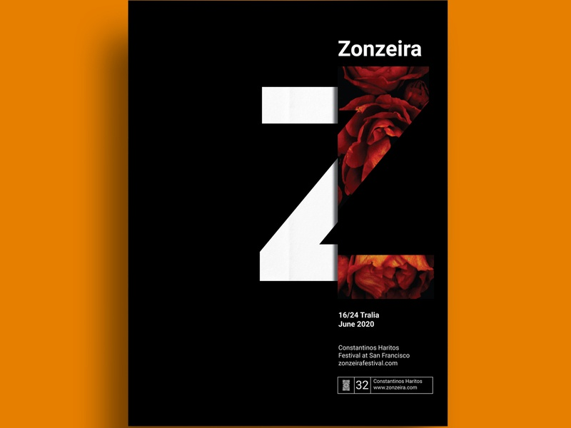 Zonzeira | Flyer / Poster poster a day typogaphy fashion poster adobe illustration flyer design creative concept minimal clean branding