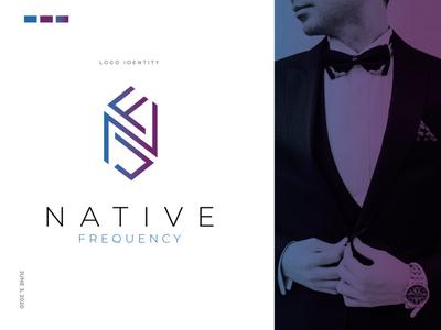 Native Frequency - Logo Design corporate agency n logo mark f logo mark vector logodesign logo concept brand minimal clean branding company logo