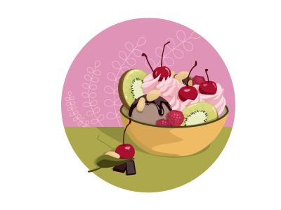 Десерт ai illustration vector illustrator