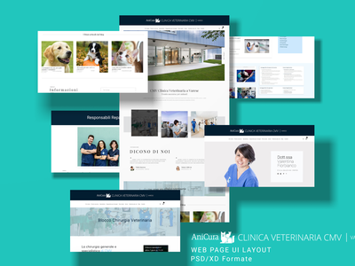 Anicura clinica web UI website branding illustration art typography ux ui graphic design design