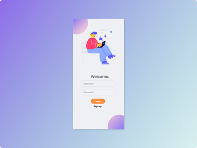LoginUI ui design mobile app mobile figma login