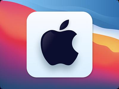 Apple Logo minimal ios ui figma design figma iconography apple icons icon branding logo design
