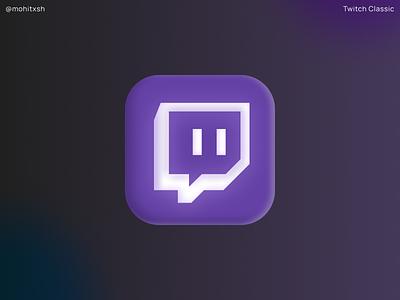 Twitch Classic branding logo 3d gaming twitchemote design classic twitch logo icons icon twitch