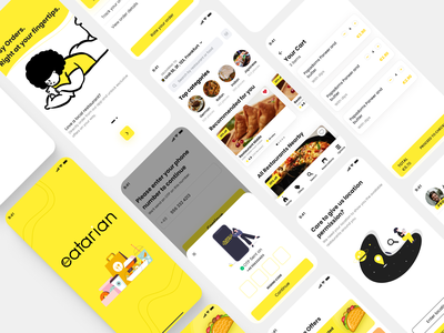 Food Delivery App ios app food delivery order delivery food ux branding ui