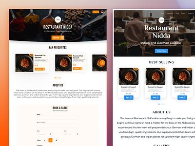 Restaurant Landing Pages landing page branding food order food food delivery restaurant ui ux ui
