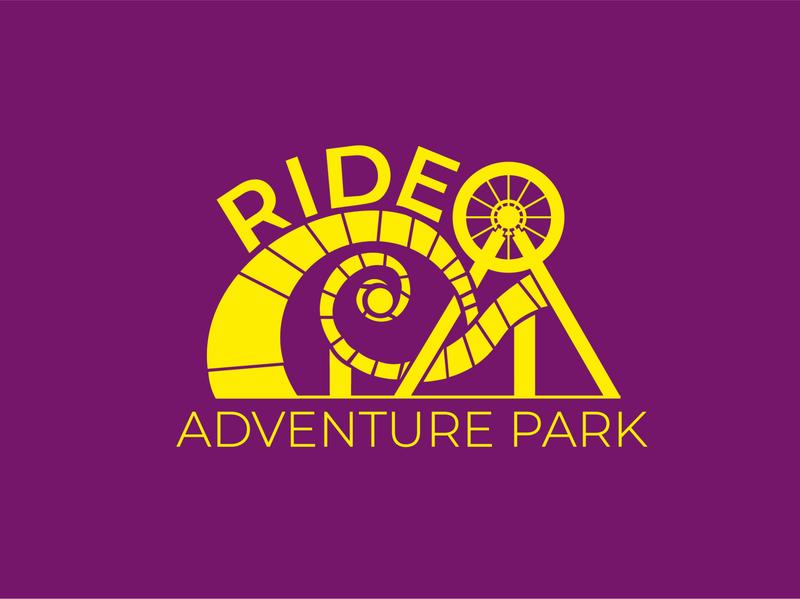 Ride Adventure Park branding design vector illustration logo