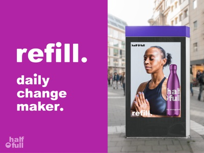 Change to reusable water bottles - Visual Identity packaging packaging design visual identity change optimism positivity sustainable eco friendly bottle water bottle typography logo illustrator design illustration vector graphic design branding