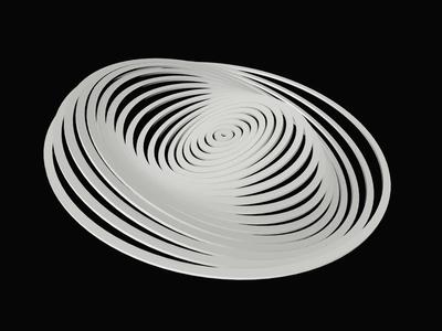 Hypnotic 3D animated visual 3d model zajno 3d design cinema4d c4d 3d