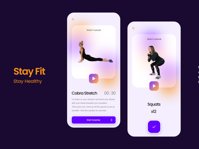 Workout App Design Concept mobile ui health app yoga exercise 062 daily 100 challenge dailyuichallenge dailyui workout app workout app design app mobile app uxdesign uidesign uxui ux ui user experience userinterface