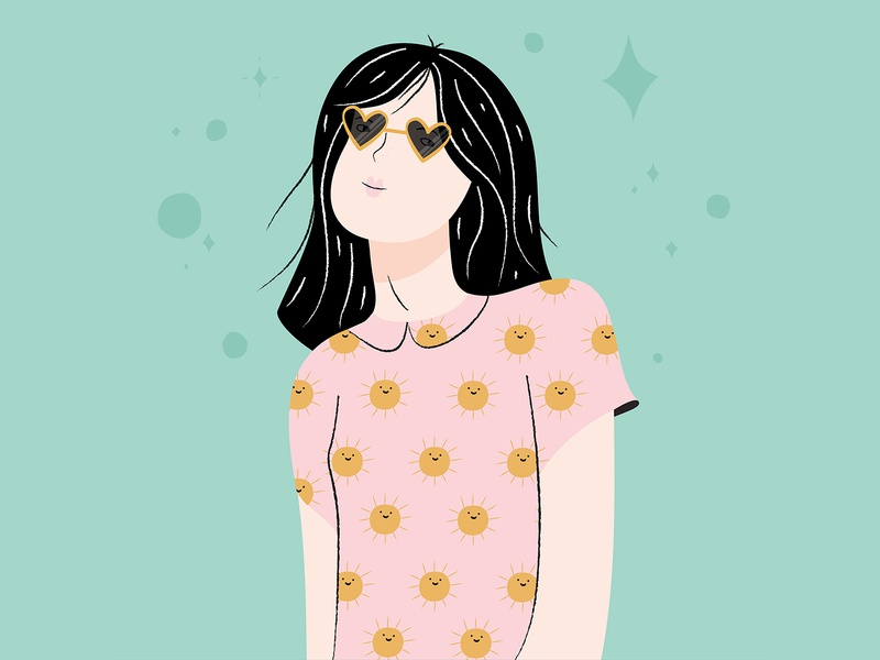 Fun with faces woman illustration woman illustrator illustration digitalportrait design glasses illustration art illustration adobe illustrator adobe
