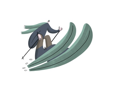 Skiing adobe illustrator illustrator photoshop illustration art illustrtion wintersport sport skiing
