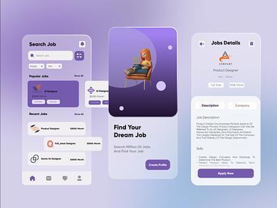Fine jobs uidesigns fine job mobile ui app uidesign uiux ui