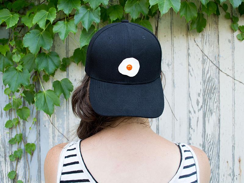 Egg Hat fried egg hand painted illustration egg patch custom apparel baseball  cap baseball hat hat 5cdf70fb042d