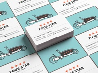 Four Star Family Cyclery | Business Cards