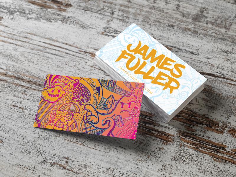 Business Card Design vector graphic design freelancer illustration design illustration marketing business card branding typography design logo