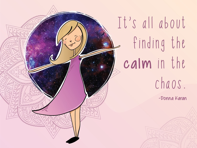 Calm in the Chaos calm rebound illustration vector graphic design icon branding typography design logo