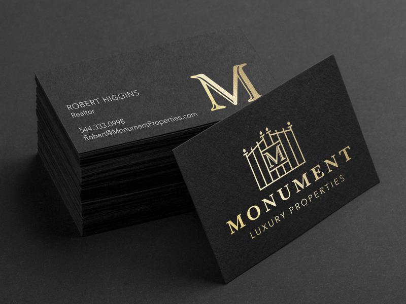 Monument Realty real estate realtor vector brand icon graphic design identity logo design business card branding typography design logo