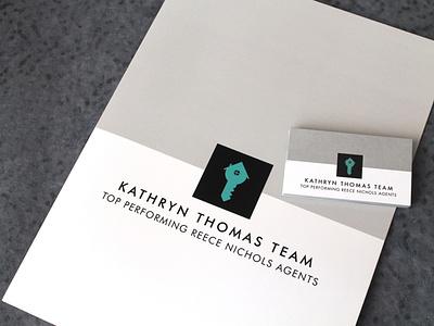 Branding Project presentation design vector branding key house black teal grey agent real estate realtor realty business card businesscard folder presentation