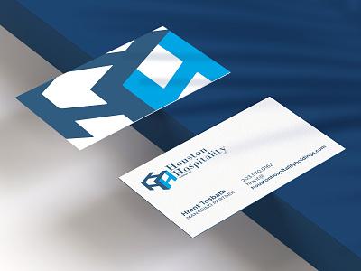 Business Card Design business card design print design print blue hospitality houston marketing business vector brand graphic design business card identity branding typography design