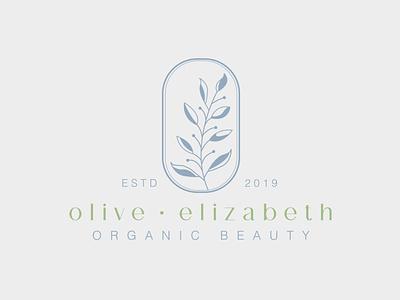 Logo Design beauty organic floral brand designer brand identity flower illustration lines leaf olive symbol bold print design print illustration marketing brand logo design identity logo typography