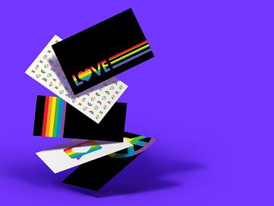 Happy Pride Month! logo design typography logo print design print marketing marriage loveislove gaypride peace love rainbow pride 2021 pride pridemonth business card design businesscard business
