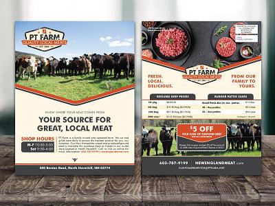EDDM Flyer Design design branding food network marketing coupon brochure mockup brochure postcard hamburger farmers market farm meat cow mailer flyer design flyer eddm postcard eddm