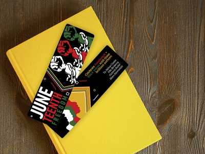 Bookmark Design yellow card print design print icon graphic design vector identity typography red green author black celebrate freedom juneteenth june bookmark book