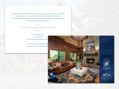 Invitation Design house 5x7 home real estate realtor card invitation identity branding typography design