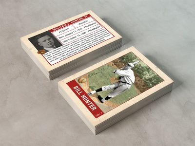 Trading Card Design funeral black and white photo matte cream pitcher print card baseball card baseball memorial trading card typography design