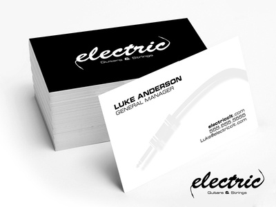 Electric Guitars & Strings Logo & Business Cards