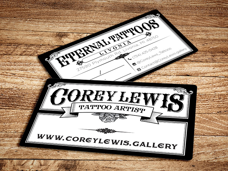 Best tattoo artist business cards ideas business card ideas tattoo business cards by primoprint dribbble colourmoves Gallery