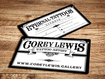 Tattoo business cards by primoprint dribbble tattoo business cards colourmoves
