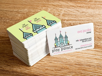 Play Palace Logo and Business Card Design