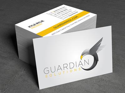 Gaurdian Solutions Linen Business Card Design