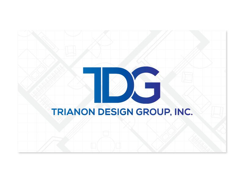 TDG Logo and Business Card Design floor plan clean modern blueprint blue typography architecture business card brand logo design