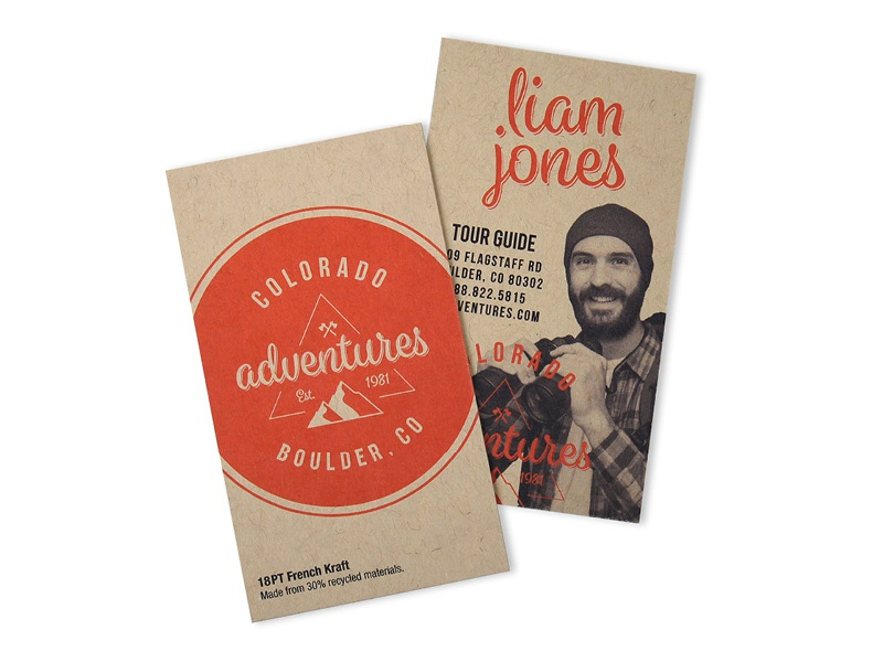 Kraft Business Card Sample new logo circle business cards paper icon hipster red kraft adventure design print