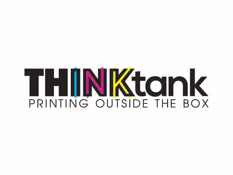 Thinktank Logo typography creative logo design print design cmyk mark logo