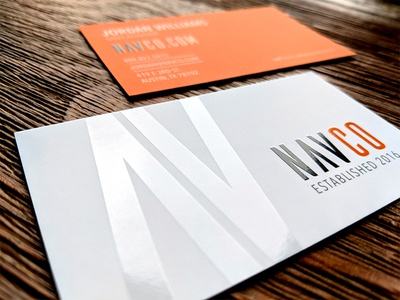 NAVCO Logo and Business Card Design