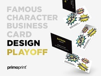 Famous Character Business Card Design Playoff