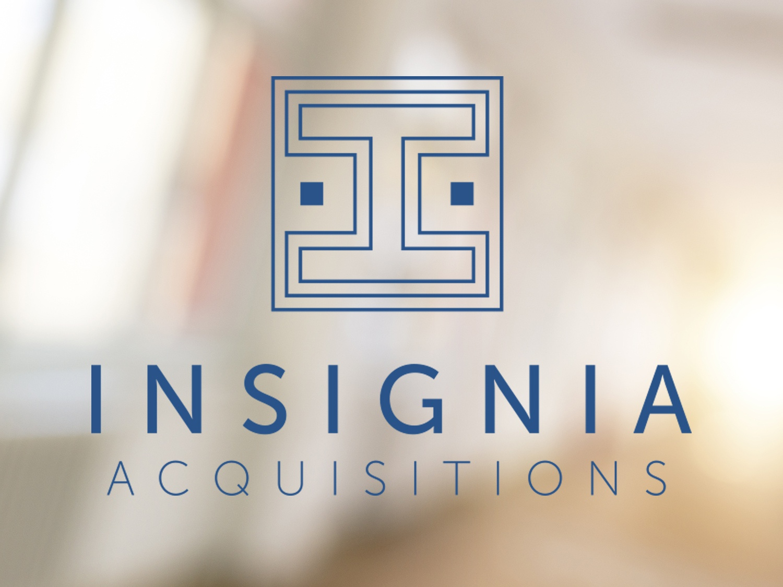 Insignia Logo brand creative business blue identity logo design icon branding mark typography business card design logo