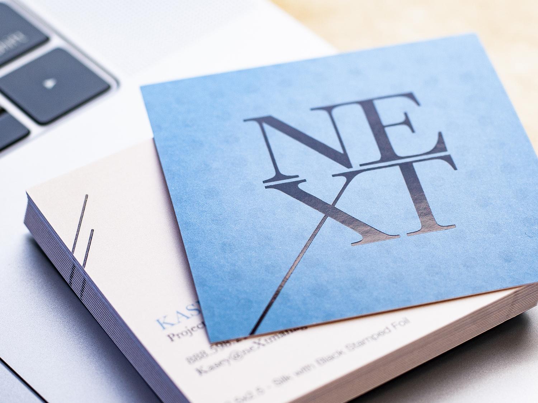 Next Square Business Card vector illustration graphic design identity brand logo design mark branding typography business card design logo