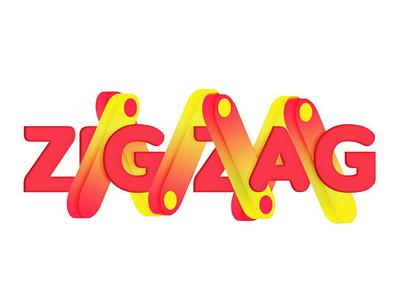 Zigzag 3D logo ui3d ui branding concept logo logo 3d logo logo designer minimal design logodesig gradient color logo c4d