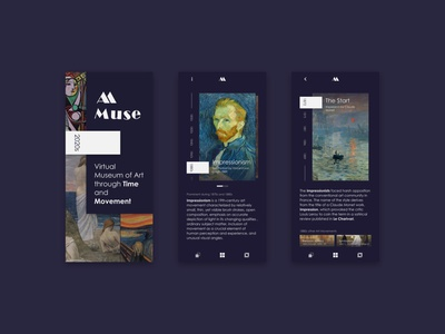 A.Muse , The virtual museum of art museum art paintings design ui